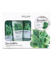 Oriflame Love Nature Facial Kit Tea Tree For Combination to Oily Skin Facial Kit 425 ml