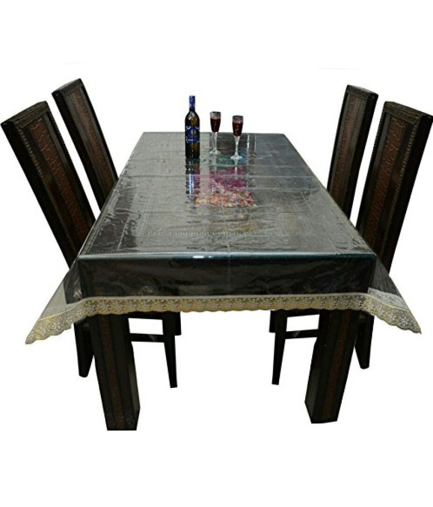 Khushi Creations 6 Seater PVC Single Table Covers