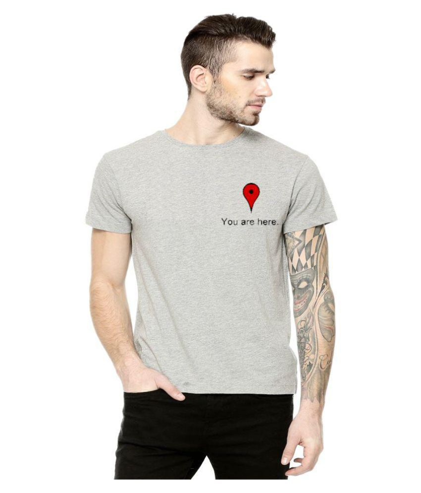 Lime Grey Round T-Shirt