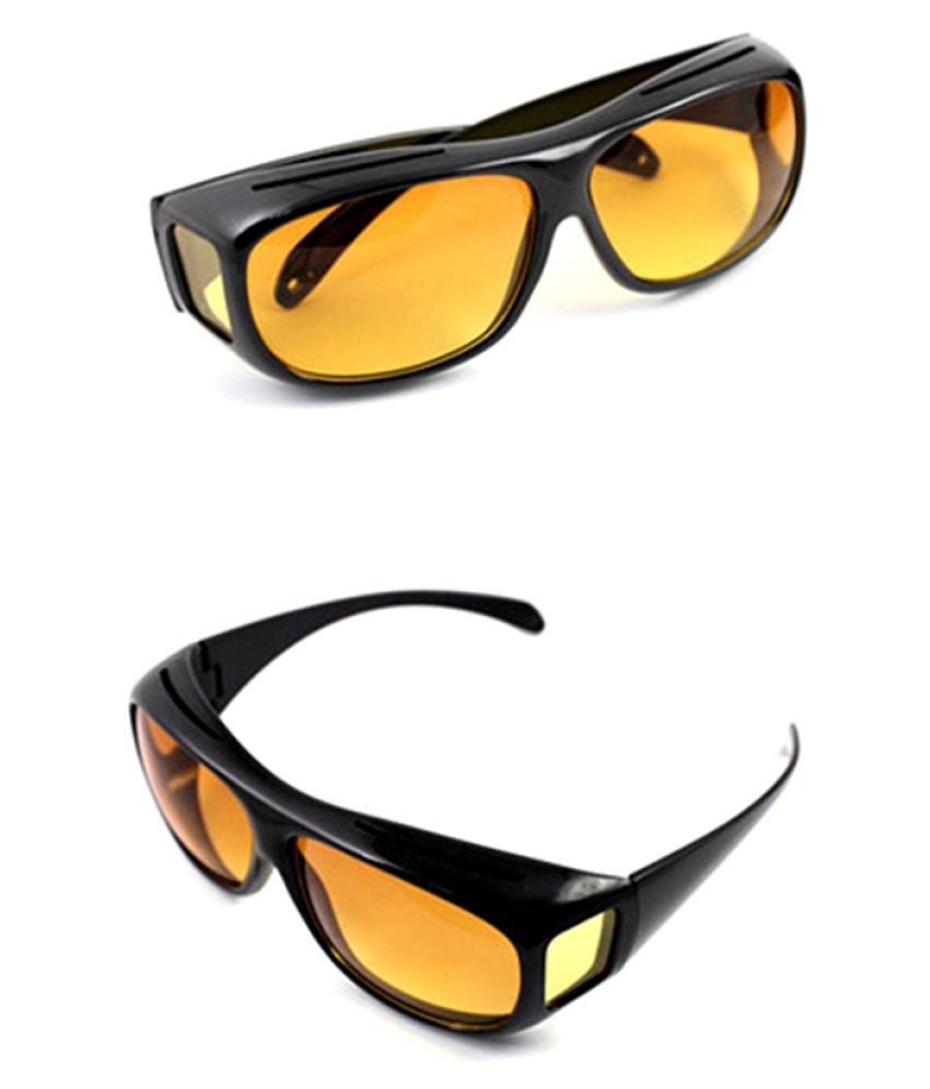 d766f08b96e Night Vision HD Wrap Around Super Clear View Night Driving Glasses For Car    Bike In Best Price  Buy Night Vision HD Wrap Around Super Clear View Night  ...