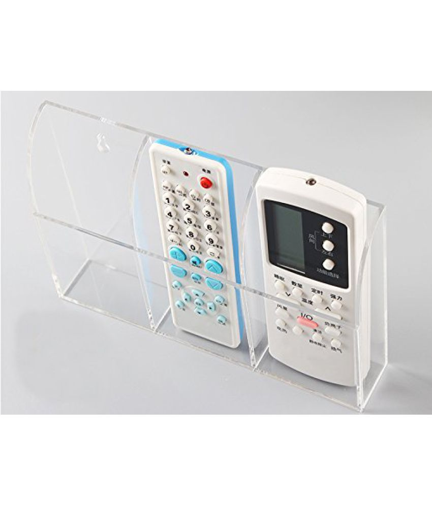 Acrylic Wall Mount Remote Control Holder Tv Ac Air