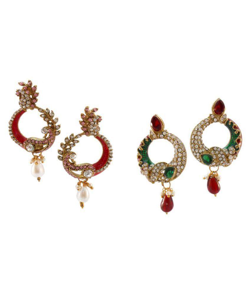My Design Wedding Designer Combo Set Of 2 Earrings Set