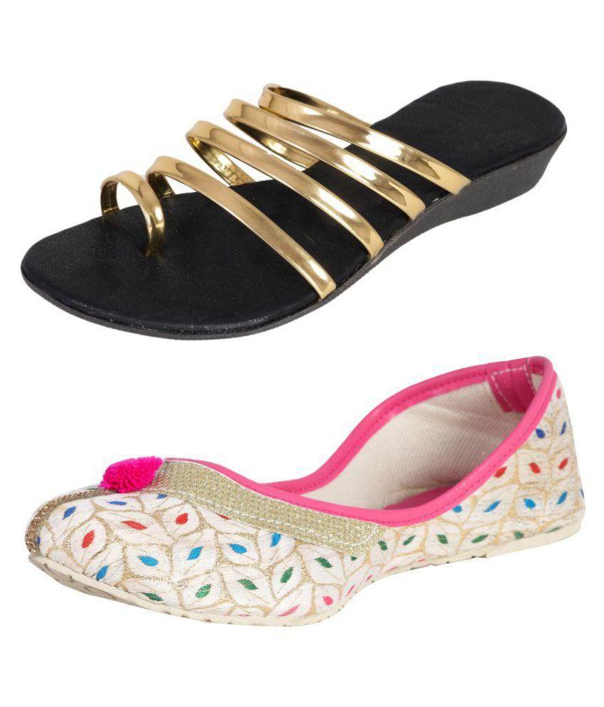 BrightJet Multi Color Ethnic Footwear