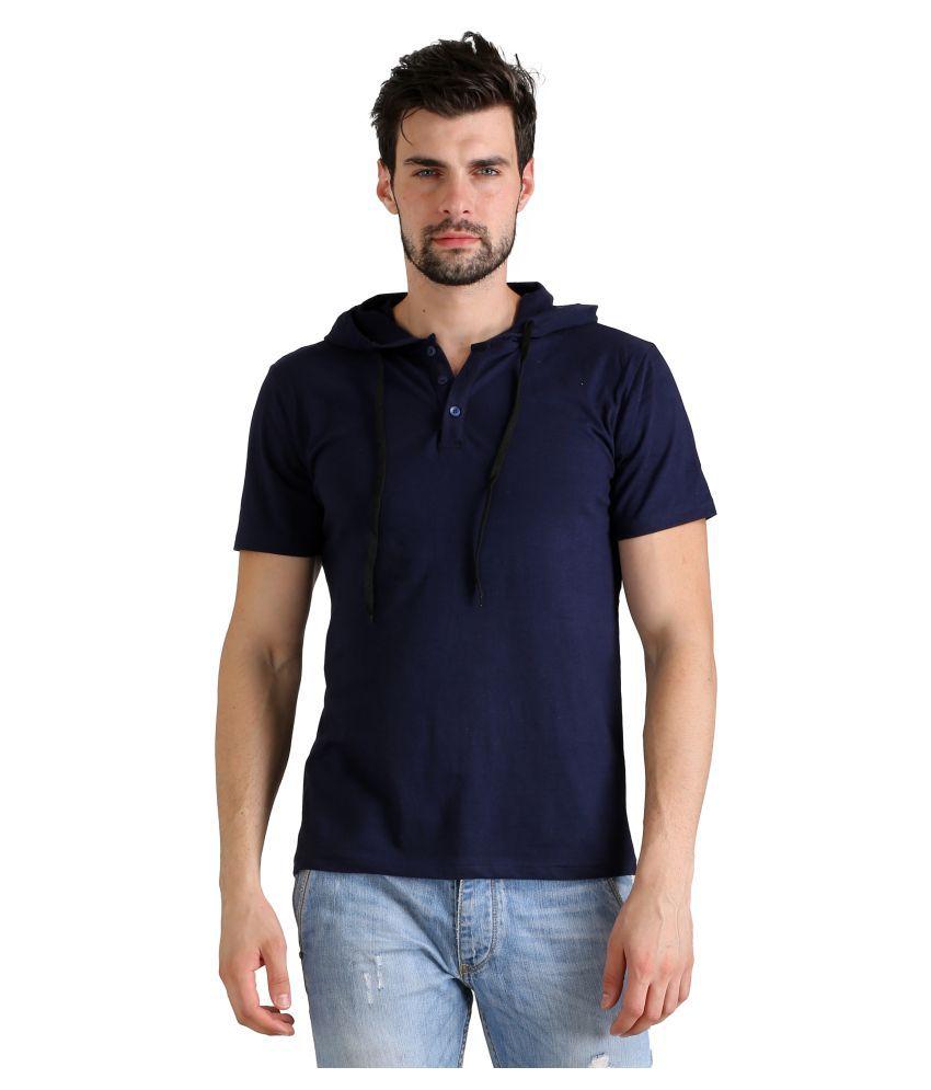 FLINGR Navy Hooded T-Shirt Pack of 1