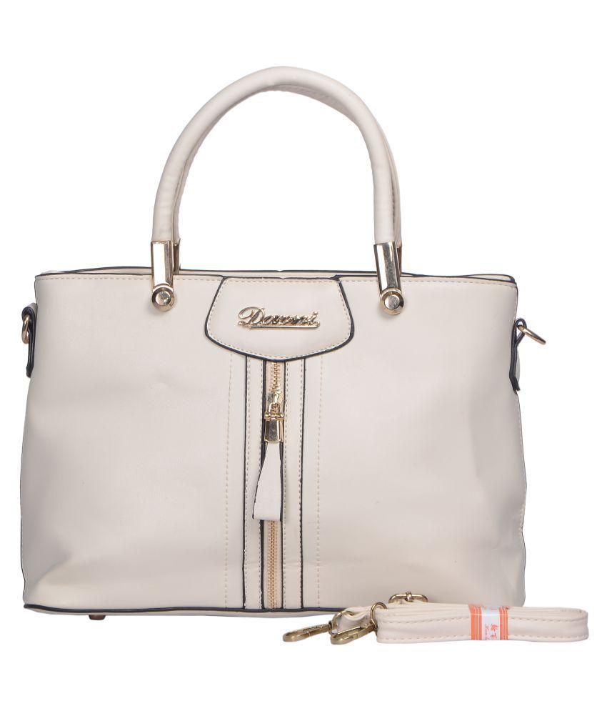 Senora Cream P.U. Satchel Bag