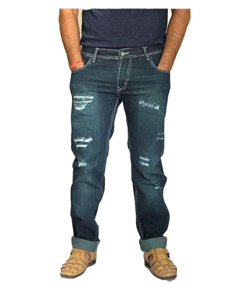 Broz Blue Regular Fit Jeans