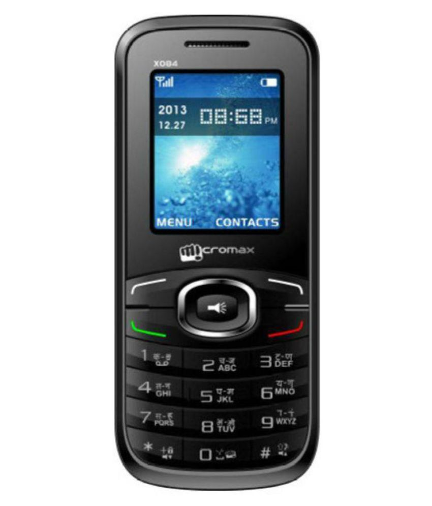 Micromax X084 Mobile Phone (Black)