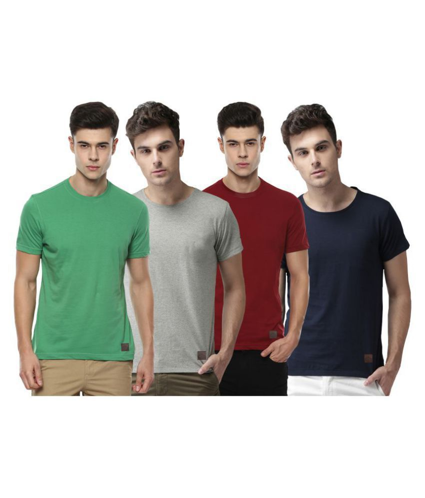Polo Nation Multi Round T-Shirt Pack of 4