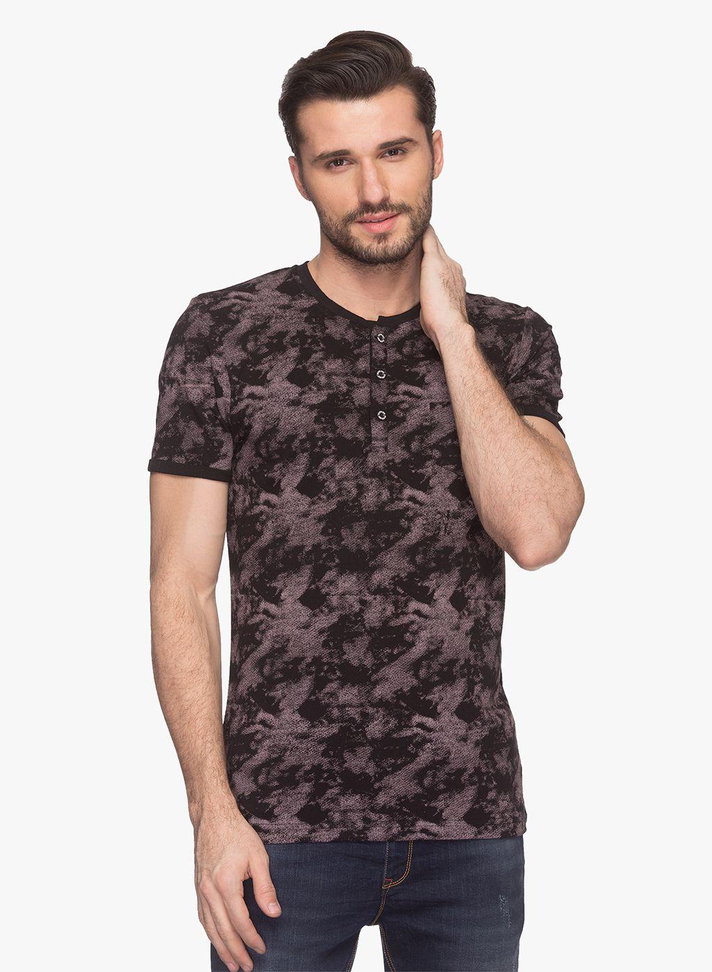 Status Quo Black Henley T-Shirt Pack of 1