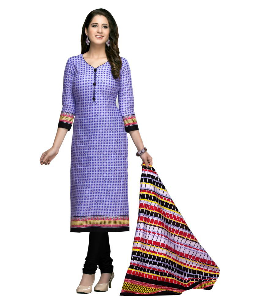 AngelFab Multicoloured Cotton Dress Material