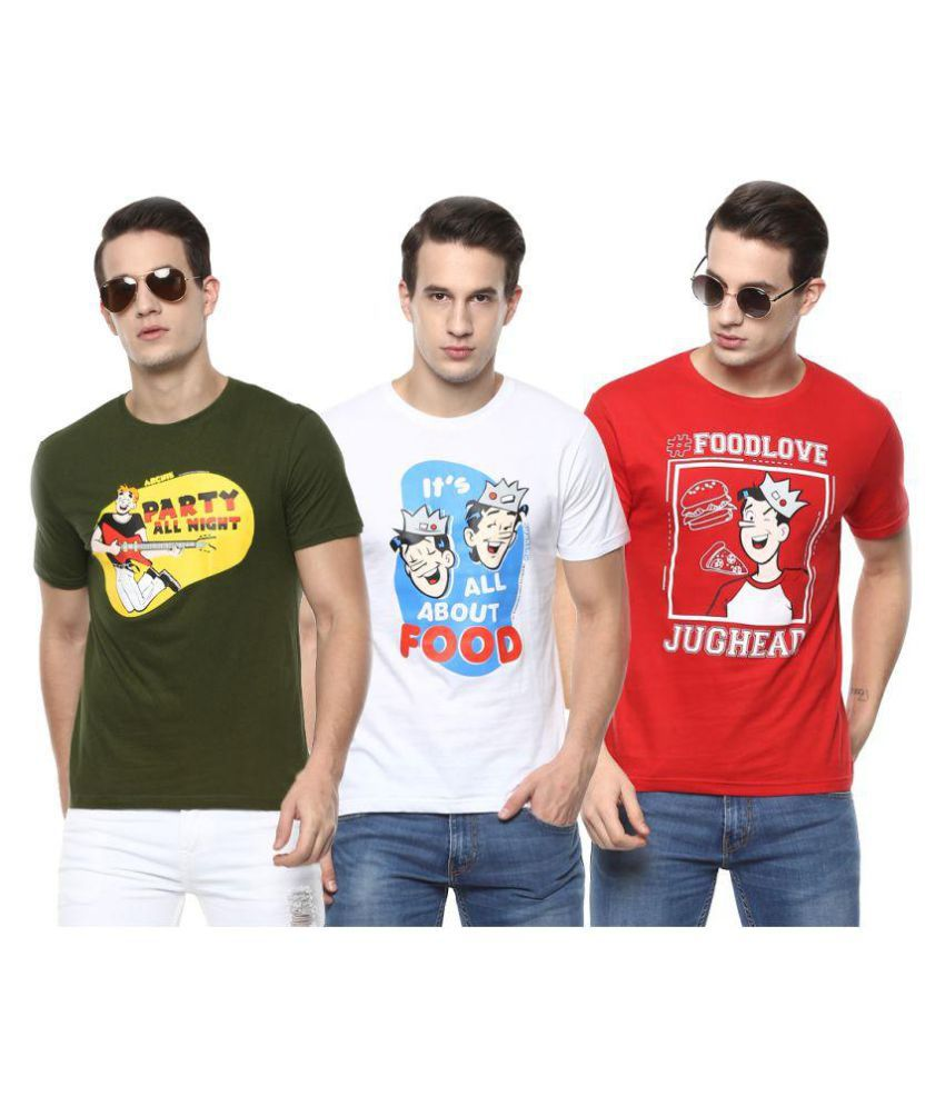 Joven Multi Round T-Shirt Pack of 3