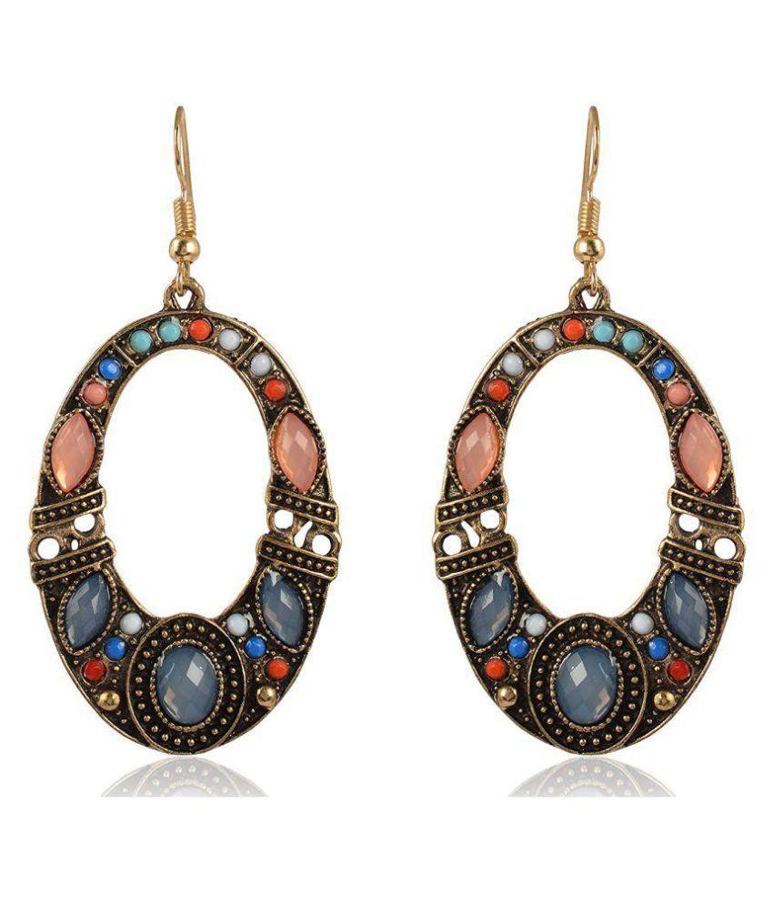 Sanaa Creations Multi-Colour Fancy Party Wear Dangle & Drop Earrings New Year Special offer for Women
