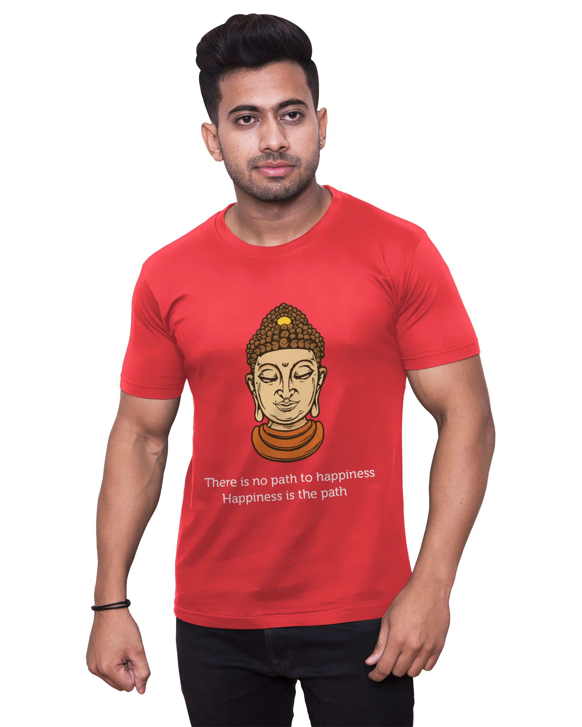 Print Opera Red Round T-Shirt Pack of 1