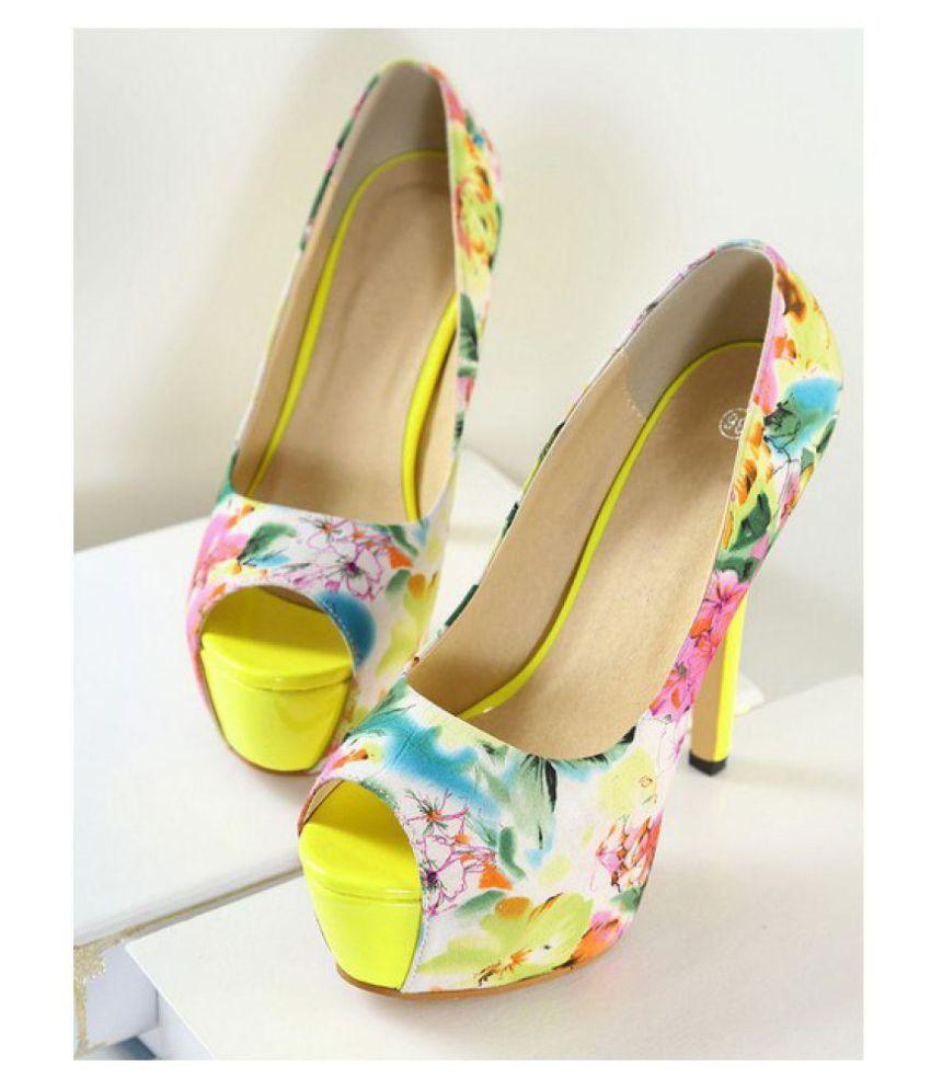 jivanis Multi Color Stiletto Heels