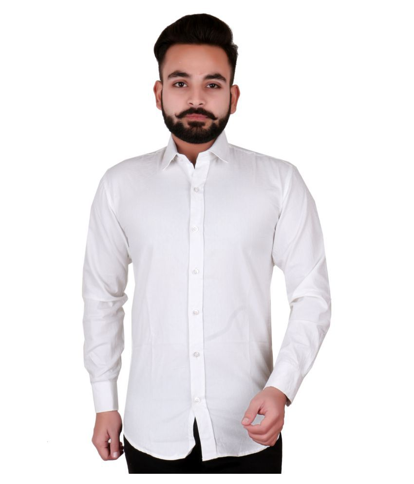 J P N White Slim Fit Shirt