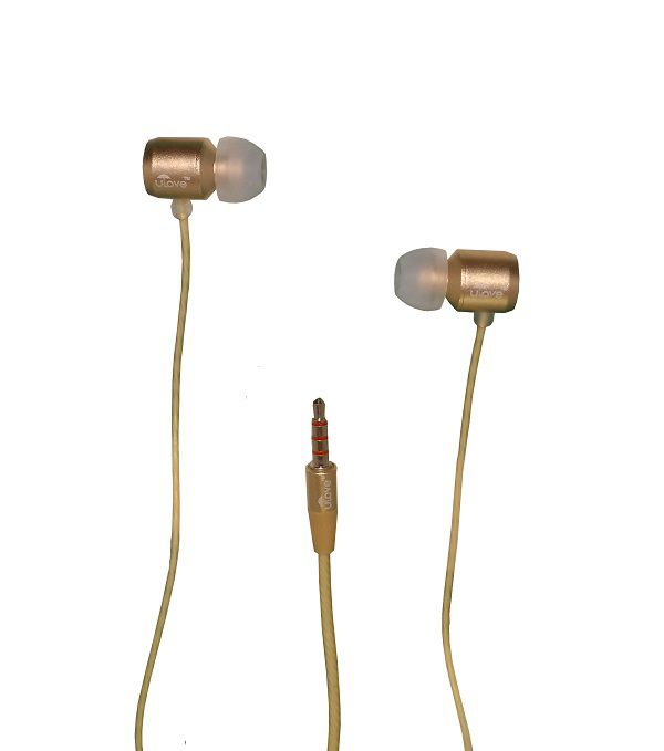 buy ulove 24 headphone with mic 3 5mm on ear headset with mic golden rh snapdeal com