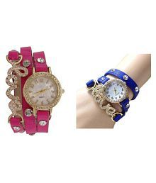 Love Dori Pink and Blue combo watches for girls