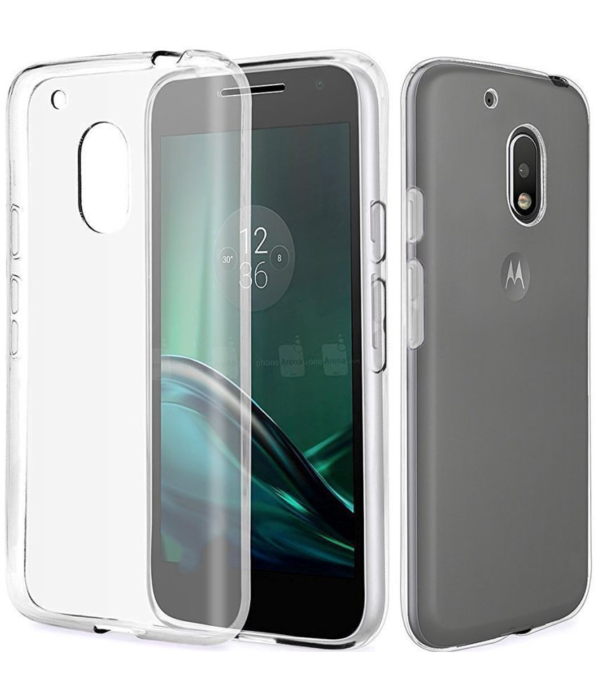 Moto G4 Play 4th Gen Plain Cases PIKWAY - Transparent