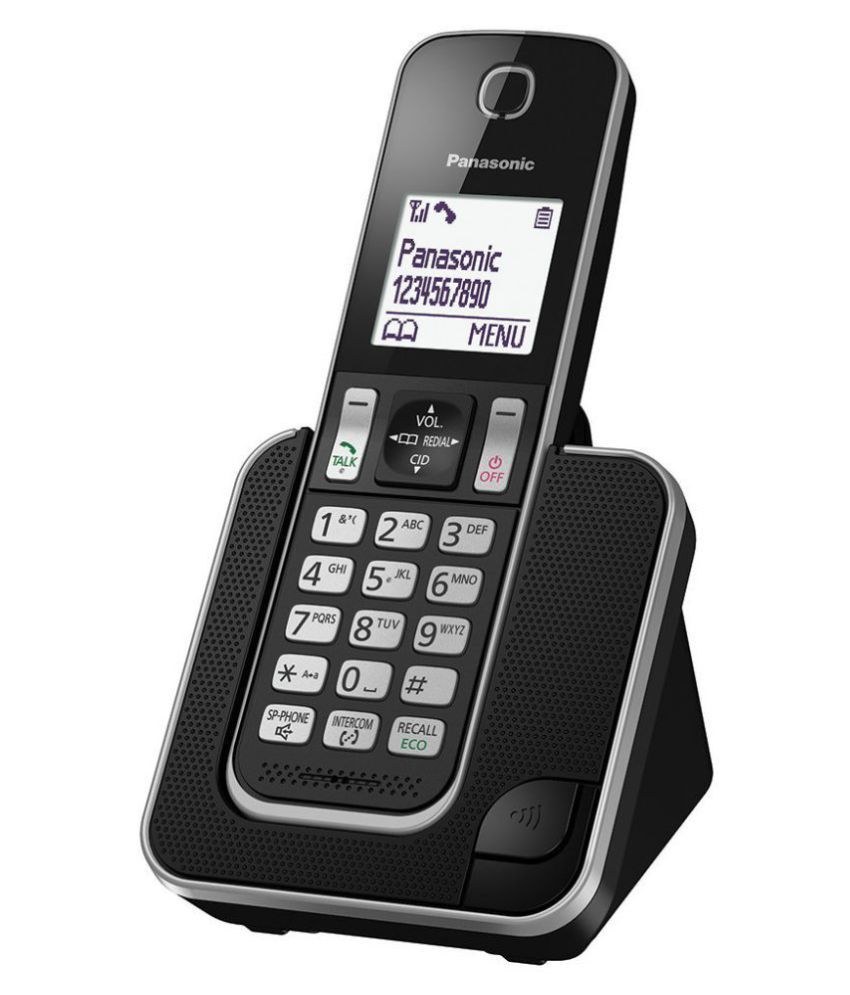 Buy Panasonic D310 Cordless Landline Phone ( Black ) Online at Best Price in India - Snapdeal