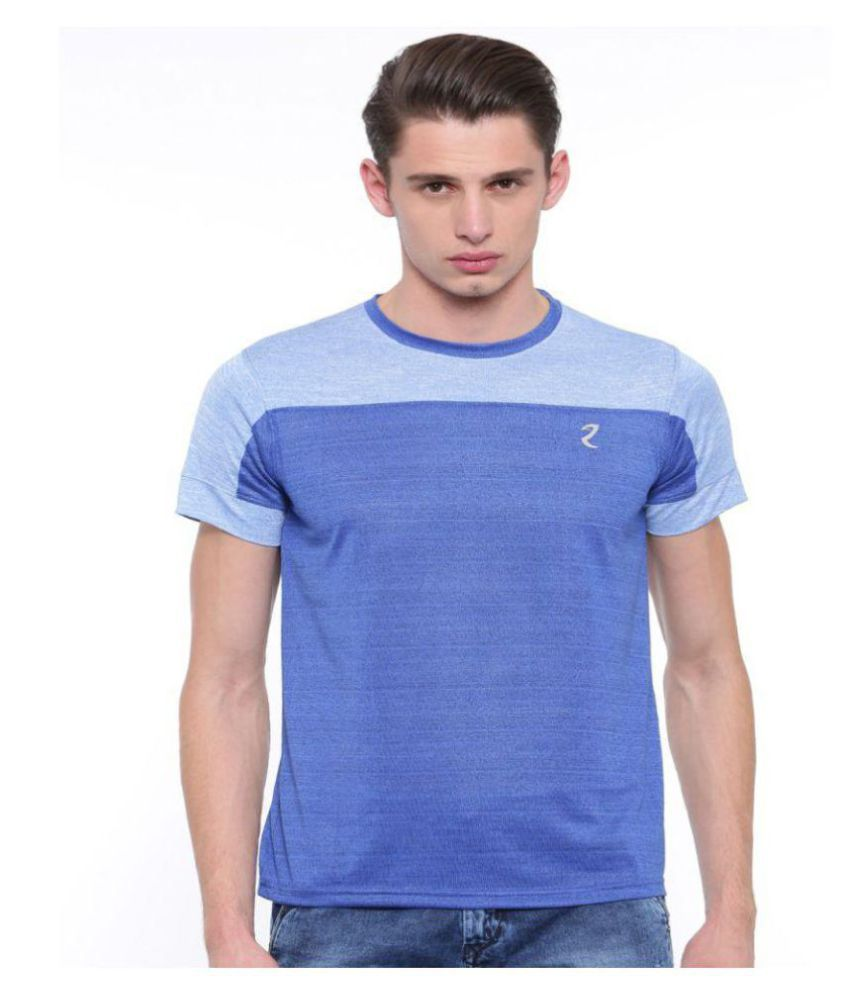 Portoz Blue Round T-Shirt