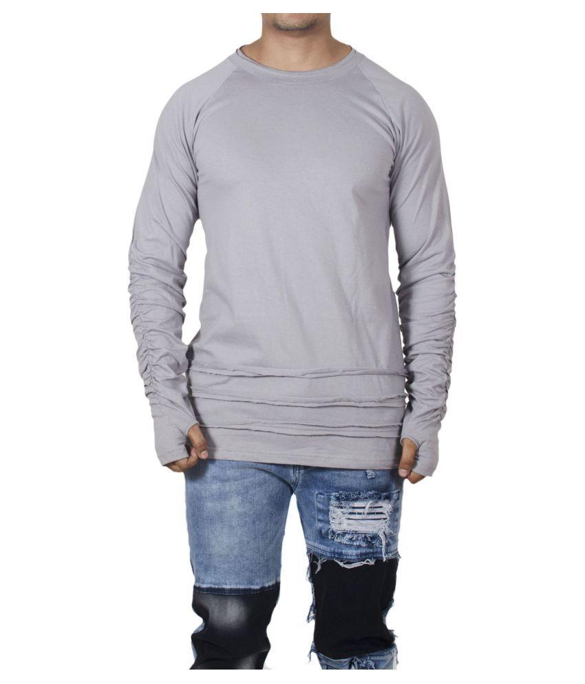 Selenas Grey Round T-Shirt Pack of 1