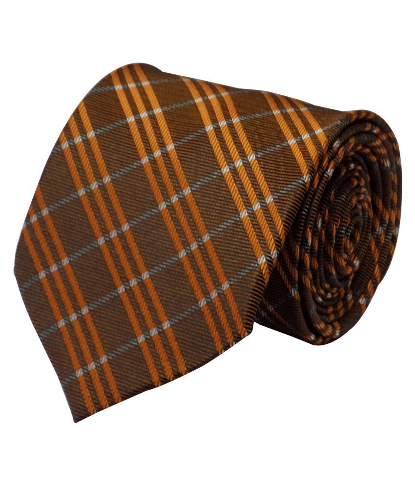 Forty Hands Brown Stripes Micro Fiber Necktie