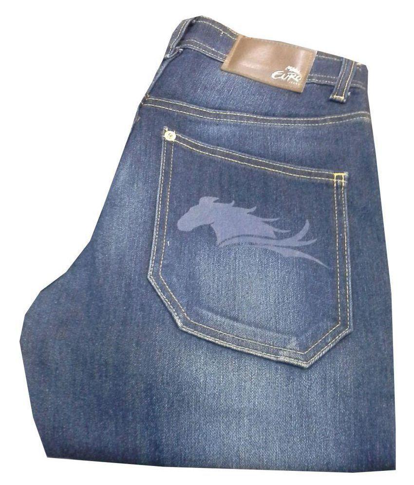 Queen Trends Blue Regular Fit Jeans