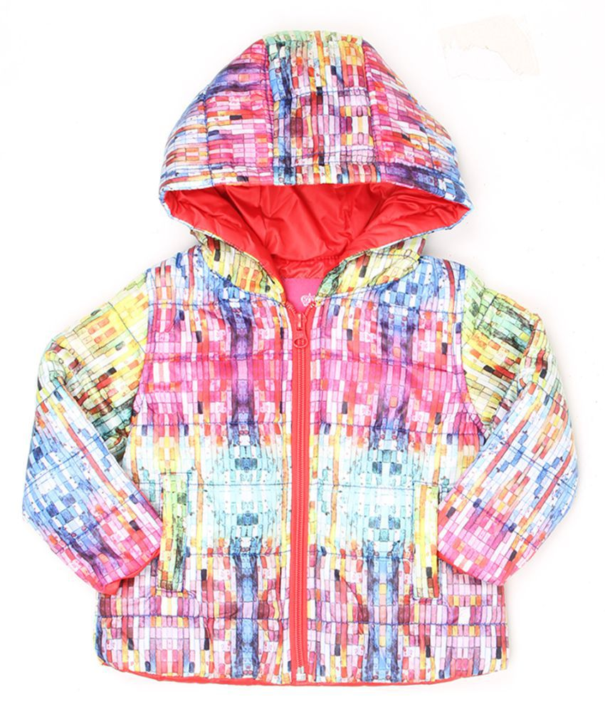 Wingsfield Girls Self Design Full Sleeve Jacket