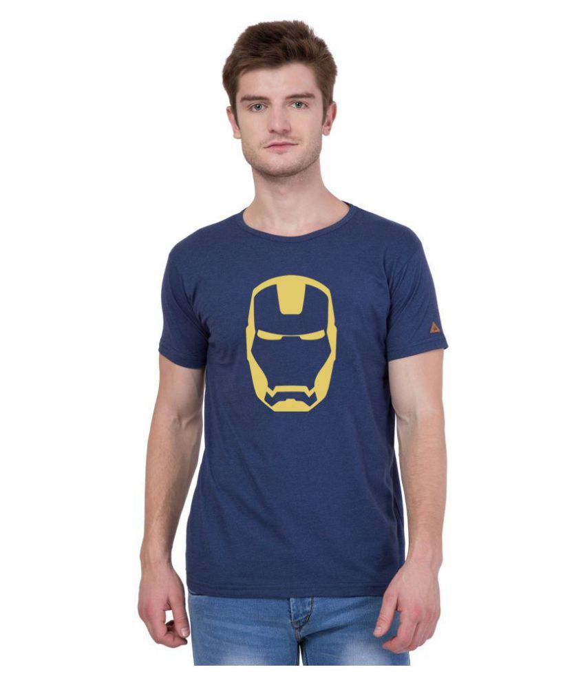 American-Elm Blue Round T-Shirt Pack of 1
