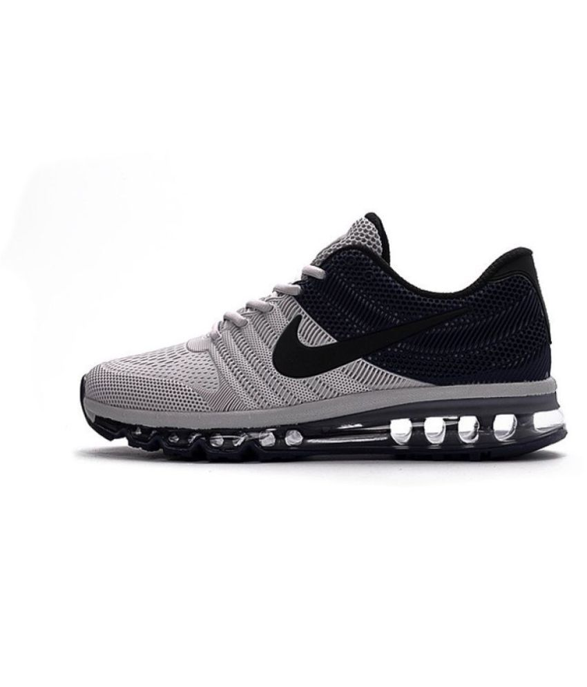 los angeles 15025 e83f5 Nike Airmax 2017 KPU Gray Running Shoes - Buy Nike Airmax 2017 KPU Gray Running  Shoes Online at Best Prices in India on Snapdeal