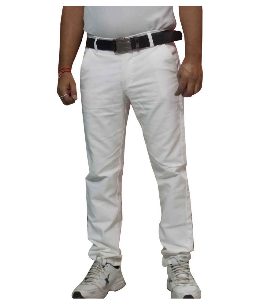 zimboo White Regular Fit Jeans