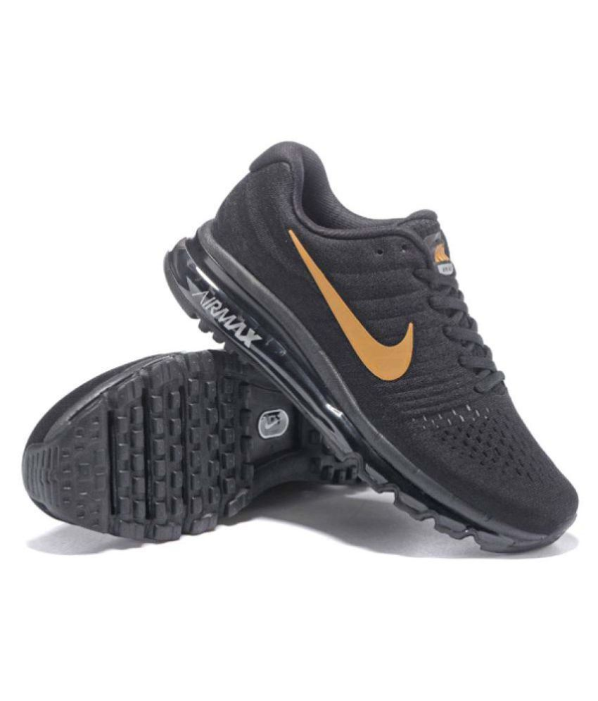 huge discount d7e39 0540e Nike AIRMAX 2017 ALL COLOUR Gold Running Shoes - Buy Nike AIRMAX 2017 ALL  COLOUR Gold Running Shoes Online at Best Prices in India on Snapdeal