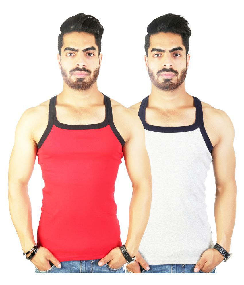 9a5e1632b2ffe5 Zimfit Multi Sleeveless Vests Pack of 2 - Buy Zimfit Multi Sleeveless Vests  Pack of 2 Online at Low Price in India - Snapdeal