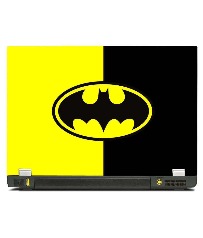 New Shimmering Special Batman Classic Simple logo Yellow and Black (15.6  inch) - Buy New Shimmering Special Batman Classic Simple logo Yellow and  Black ... 198d640fc0440