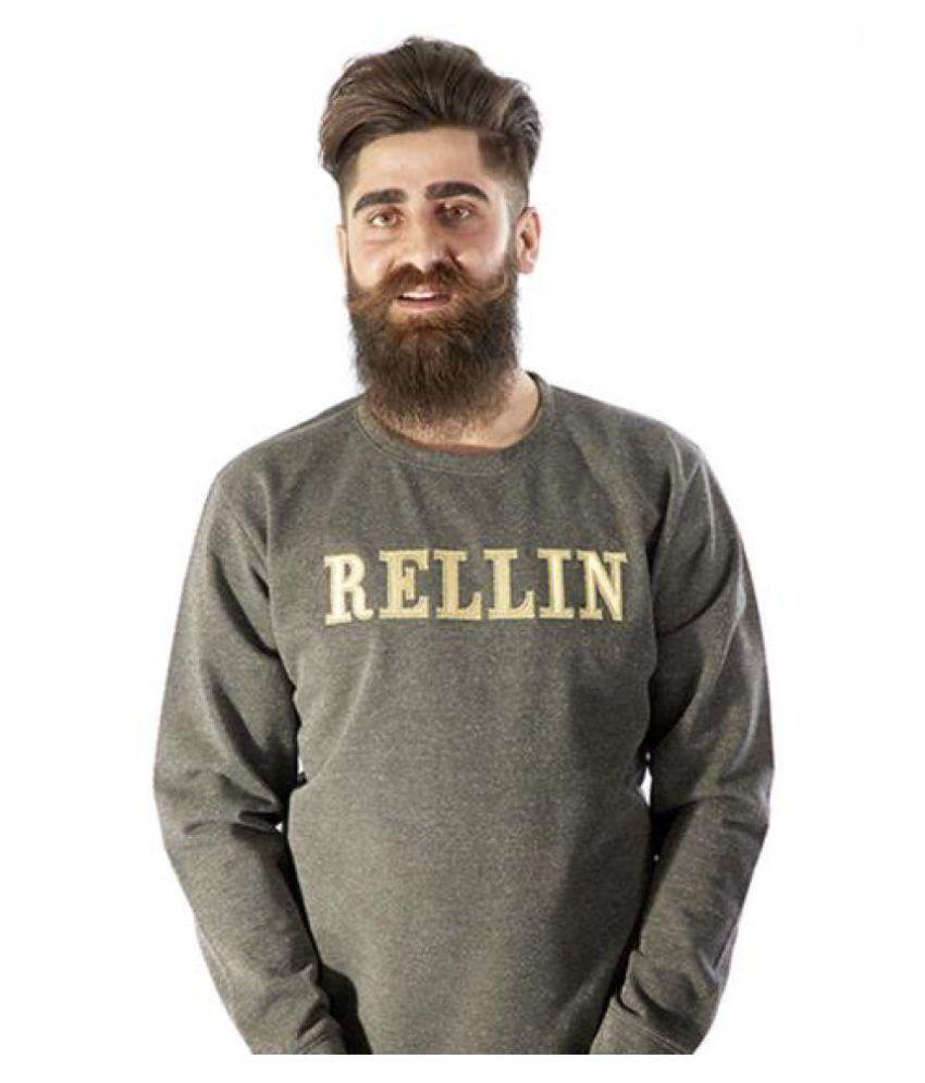 Rellin Black Round Sweatshirt