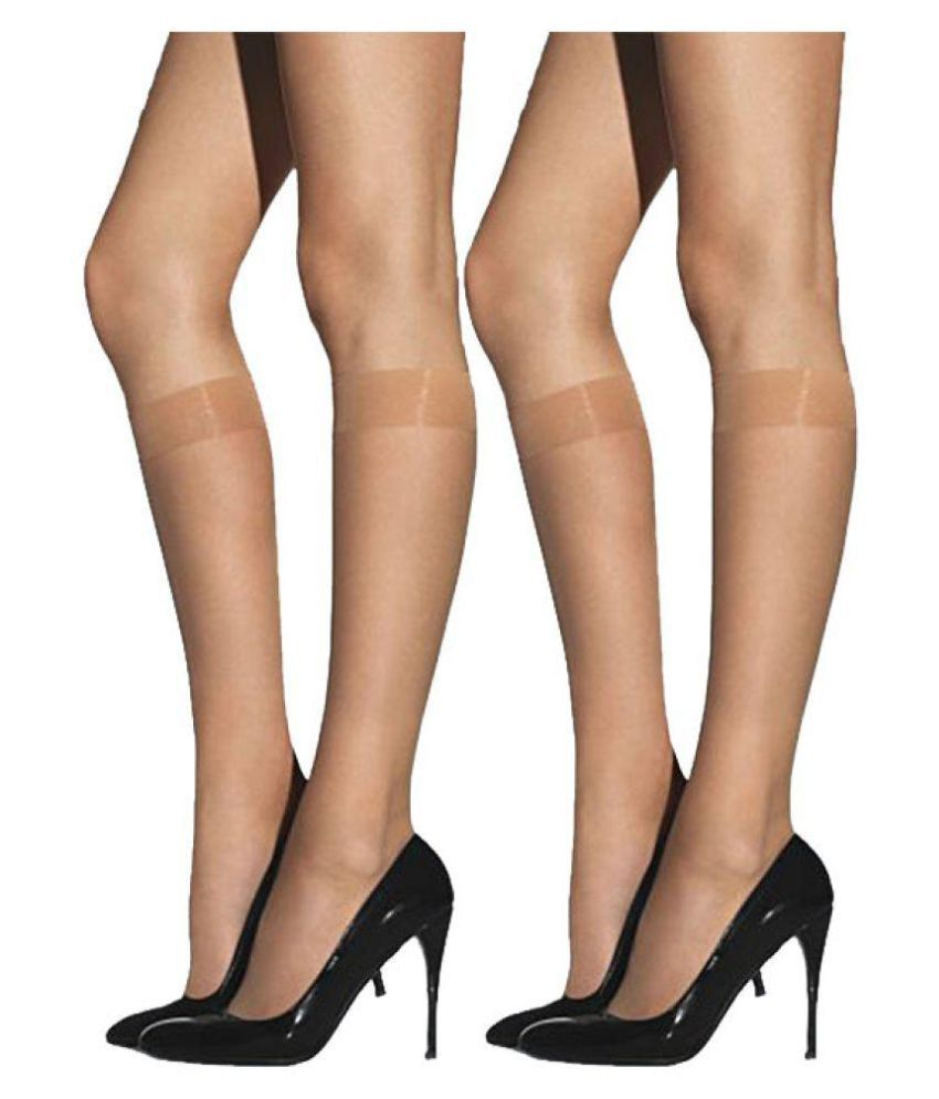 befda6bc1 Nxt 2 Skin - Women s Knee Length Sheer Socks  Buy Online at Low Price in  India - Snapdeal