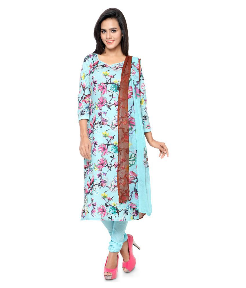 Home Deal Multicoloured Cotton Dress Material
