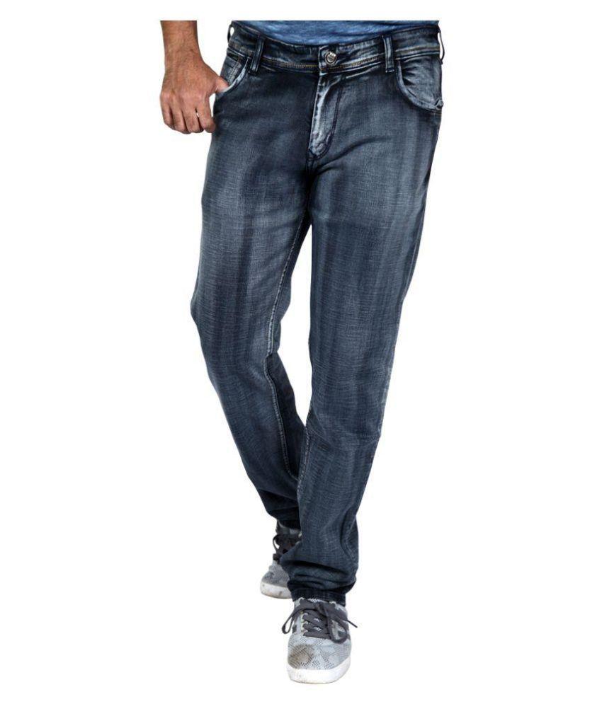 Hasasi Denim Black Regular Fit Jeans