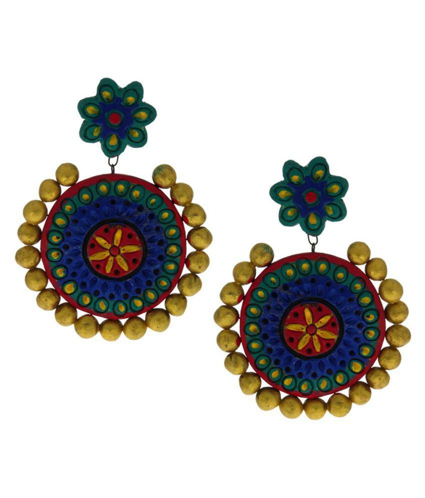 Anuradha Art Multi Colour Wonderful Handmade Designer Terracotta Earrings For Women/Girls