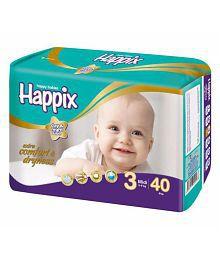 Happix Baby Medium Size Diapers 40pcs Pack