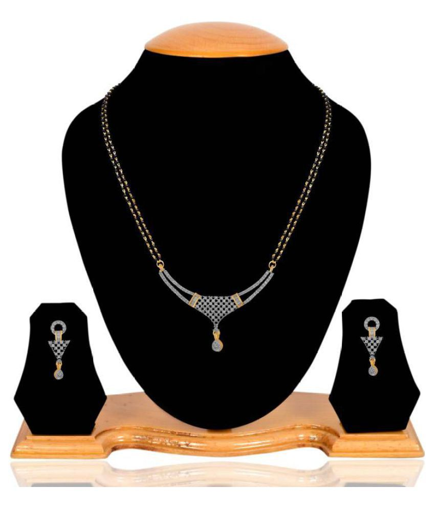 Navya Collection American Diamond Designer Mangalsutra Set