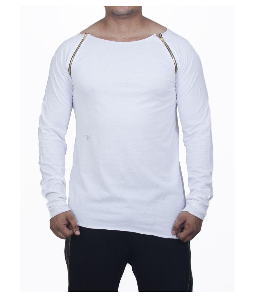 Selenas White Round T-Shirt Pack of 1