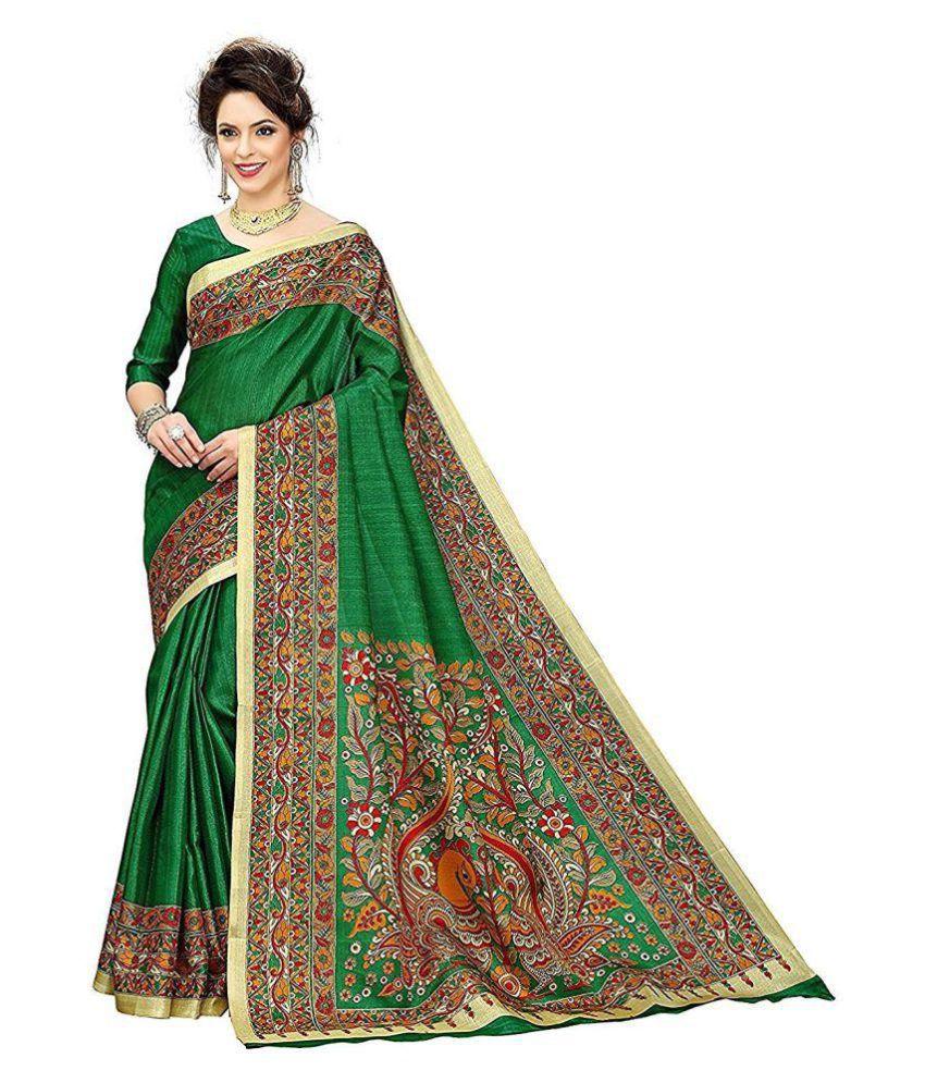 Fabulous Trendz Green Art Silk Saree