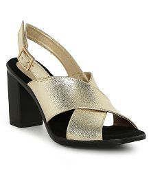CATWALK Gold Block Heels