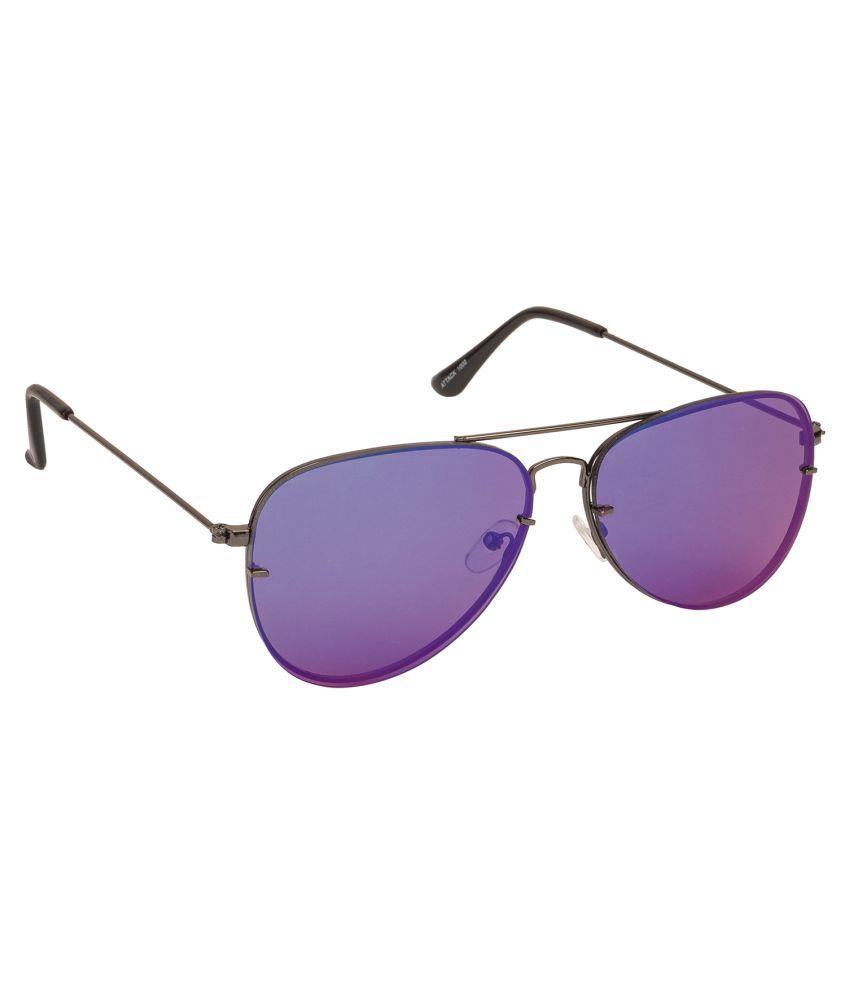 Arzonai Blue Aviator Sunglasses ( MA-1000-S11 )