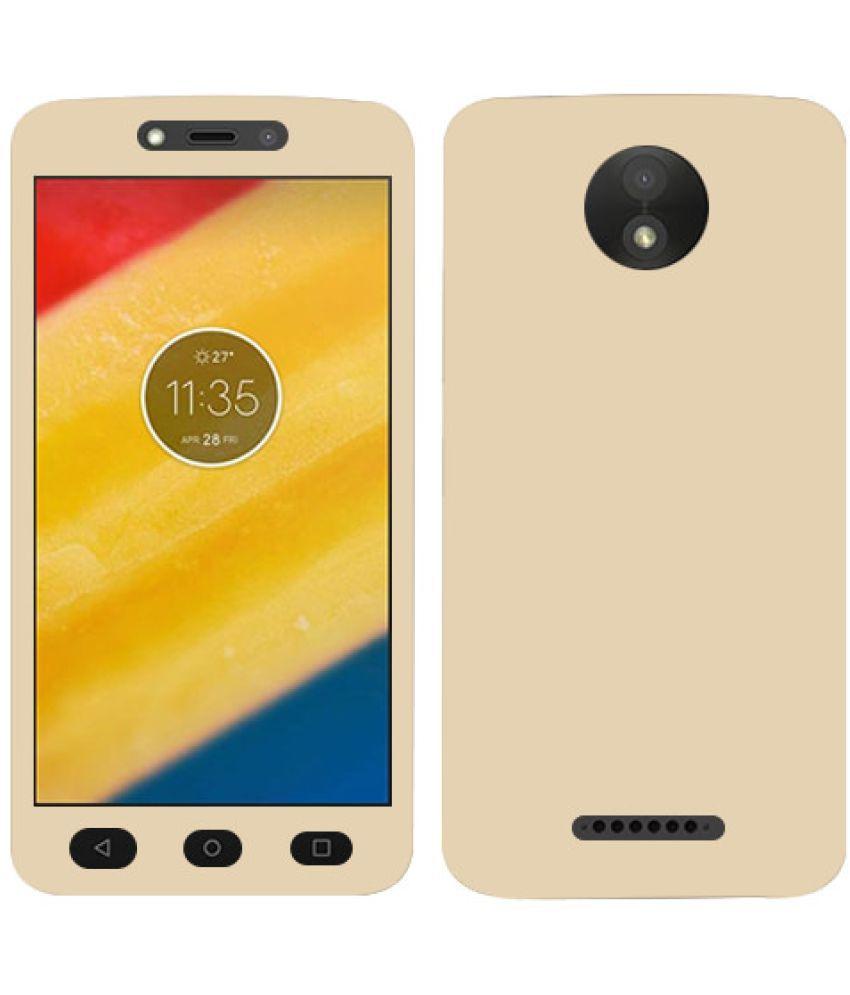 Moto C Plus Plain Cases Doyen Creations - Golden