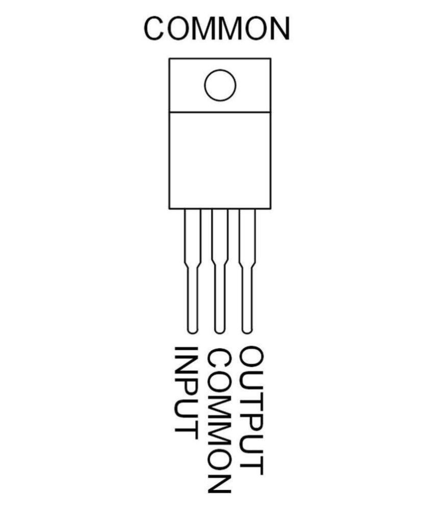Practhink 7805 Positive Voltage Regulator Ic 5 Volt 1 Amp Pieces Circuits