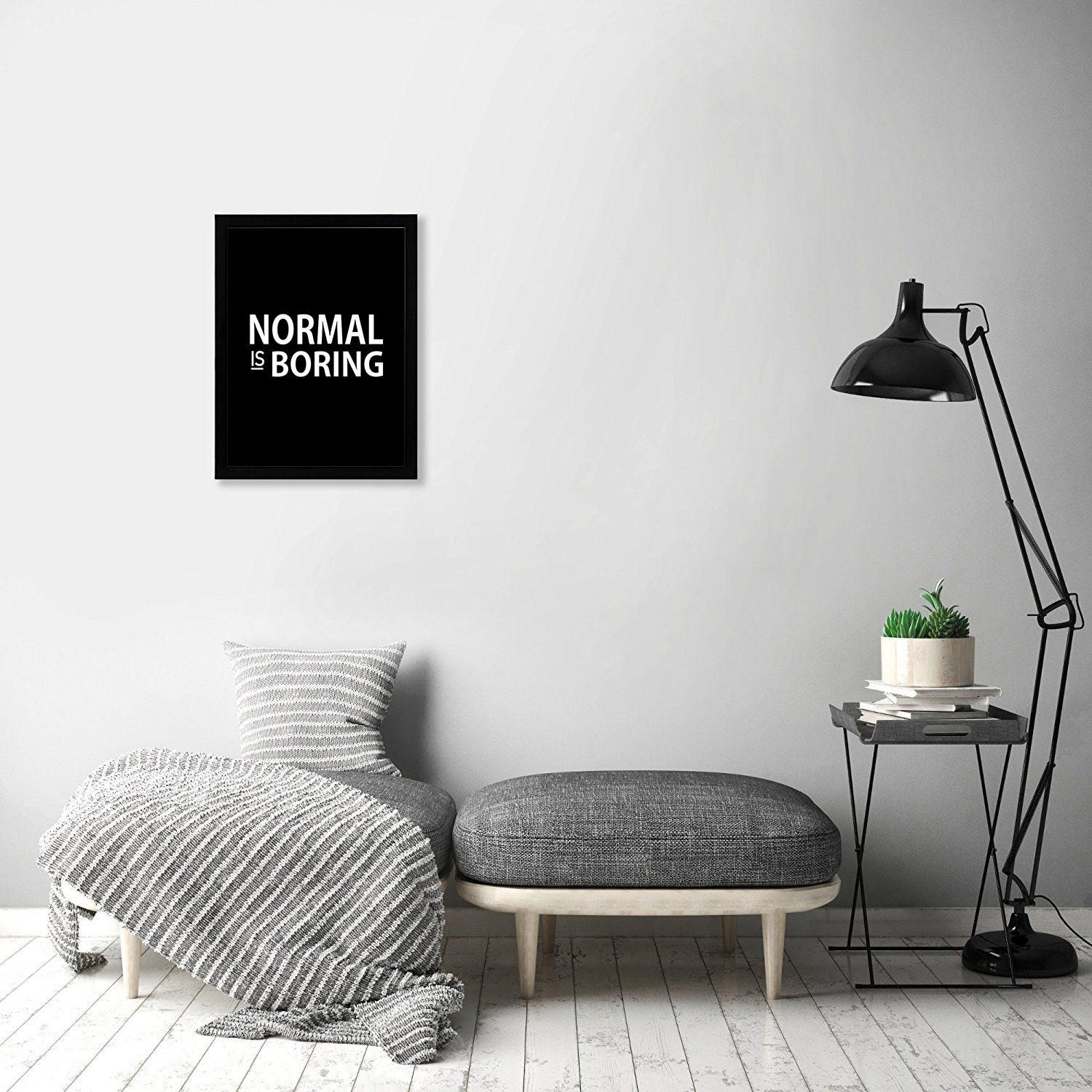 Normal is Boring Framed Wall Hanging