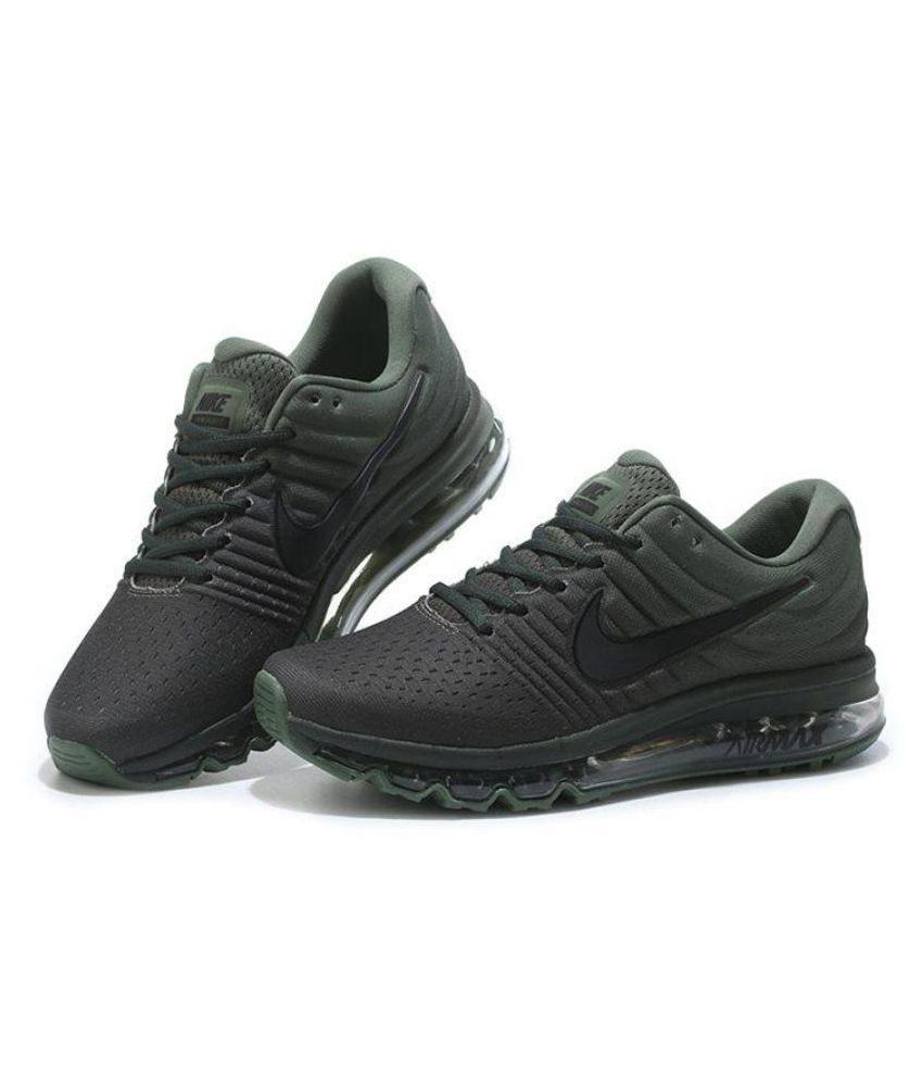 cheap for discount 1123c 7aeeb Nike Airmax 2017 Olive Running Shoes - Buy Nike Airmax 2017 Olive Running  Shoes Online at Best Prices in India on Snapdeal