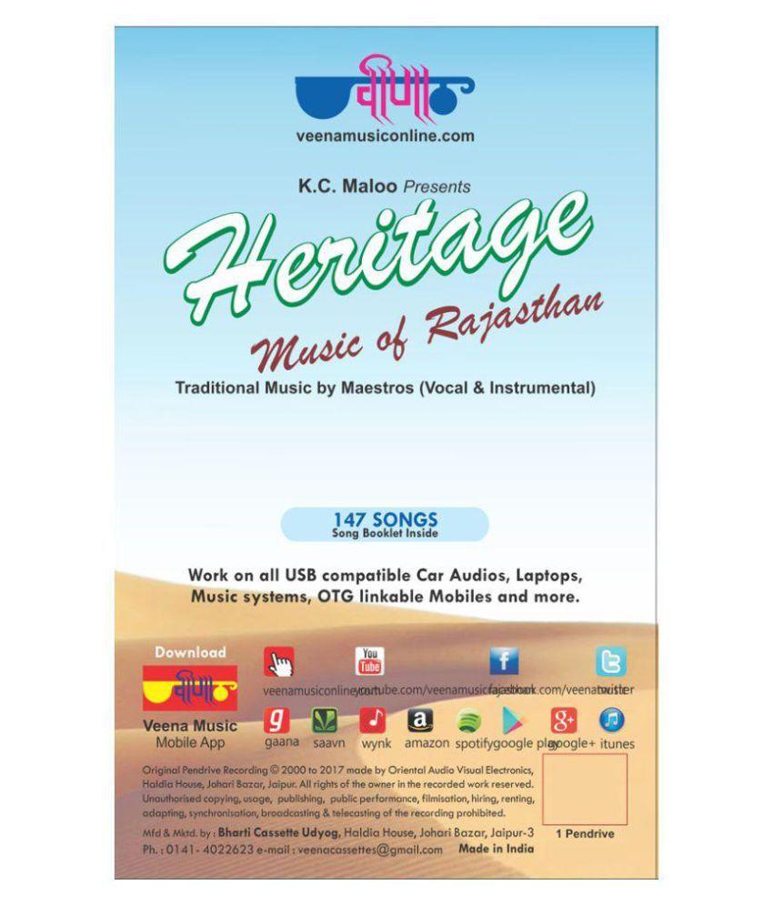 Heritage Music of Rajasthan ( Music Card )- Rajasthani